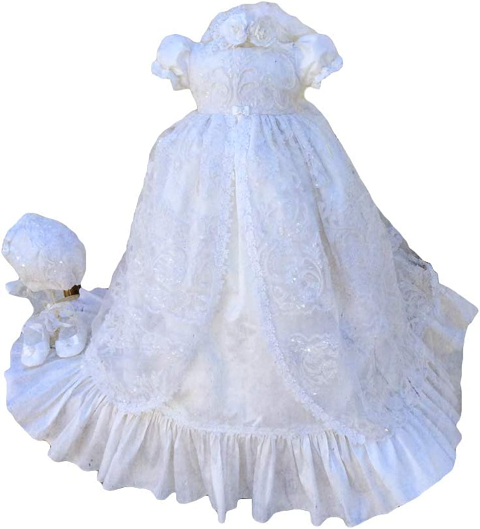 Fenghuavip Max 79% National products OFF Stylish Short Sleeve Long Gowns Christening fo Infant