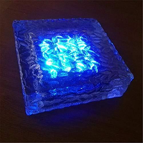 Unterirdisches Licht Bodenleuchten Solarglas Crystal LED Bodenfliesen Crystal Clear durchscheinende Lampe Lawn Garden, C