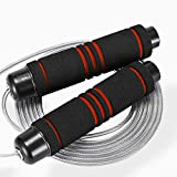 Aessdcan Jump Rope, Skipping Rope Tangle-Free with Anti-Slip Handles, Suitable for Slimming/Work Out/Train/Entertainment, Adjustable Jump Rope for Men/Women/Children, Great for Aerobic Exercise