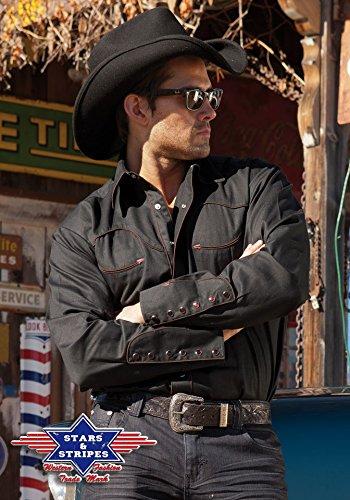 Stars & Stripes Country Hemd schwarz Westernhemd Jack Gr. S Western Wild West Line Dance Kleidung