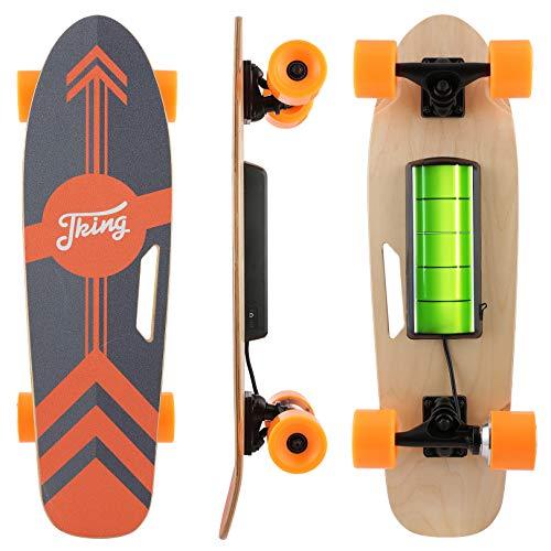 CAROMA Skateboard Elettrico con Telecomando LED Wireless,...