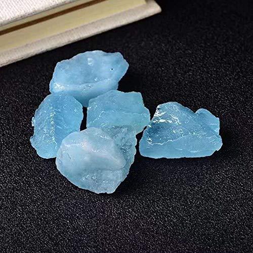 W.Z.H.H.H Crystal Rau Aquamarine Rohkristalle Raue Stein Natursteine Mineralien Edelsteine Schmuck Cristal Dekorative Heilende Kristalle (Color : 1pcs, Size : 20 28mm)