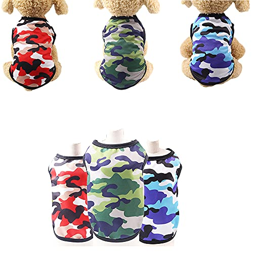 Sebaoyu 3 Pack Dog Clothes for Small Dogs Girl Boy-French Bulldog Yorkie Clothes Outfit-Puppy Clothes for Medium Large Doggie-Cat Vest-Cute Pet Apparel-Summer Puppy Shirt (X-Large/9.9-12.1 lbs)