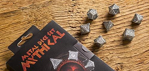 Q-Workshop Metal Mythical 7 Polyhedral Ornamented Dice Set 4