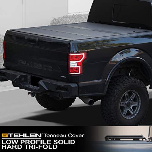 Stehlen 642167822332 Low Profile Hard Plastic Tri-Fold Tonneau Cover - Matte...