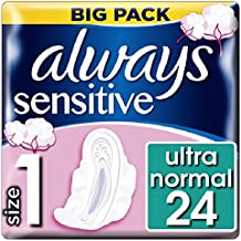 Always Sensitive Normal Ultra Sanitary Towels with Wings x 24