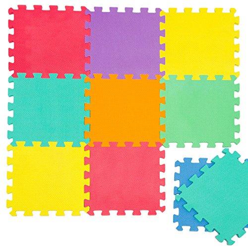 LittleTom Tappeto Puzzle per Bambini Morbido Tappetino Gioco Colorato Neonati