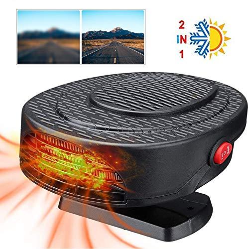 Auto-verwarming, draagbaar, voor ontdooien, snel opwarmen, 2-in-1, met ventilatorfunctie, 12 V, 150 W, 360 graden verstelbaar, sigarettenaansteker met 3 stopcontacten