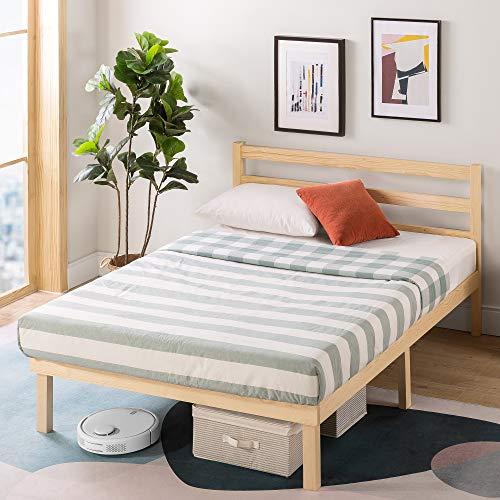 Estructura de cama de madera de 36cm Robin de ZINUS | Soporte de listón de madera | Montaje sencillo | 150 x 200 cm | Natural