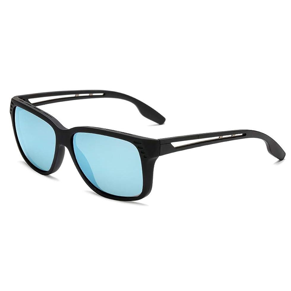 セッション投票ネイティブSGSJP メンズ スポーツサングラス サングラス 清晰 UVカット 軽量 運転用 アウトドア メガネケース サングラス (Color : E ブルー, Size : フリー)