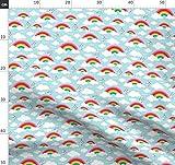 Regenbogen, Muster, Wolken, Hipster, Herzen, Traum Stoffe -