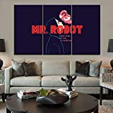 104Tdfc Elliot Alderson Programa de televisión Mr.Robot Cuadro sobre Lienzo 3 Piezas imágenes para...