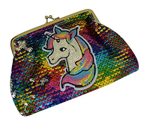 Party Hub Girls Latest & Unique Unicorn Sequins Sling Bag for Girls Brthday Gifts (Multi)