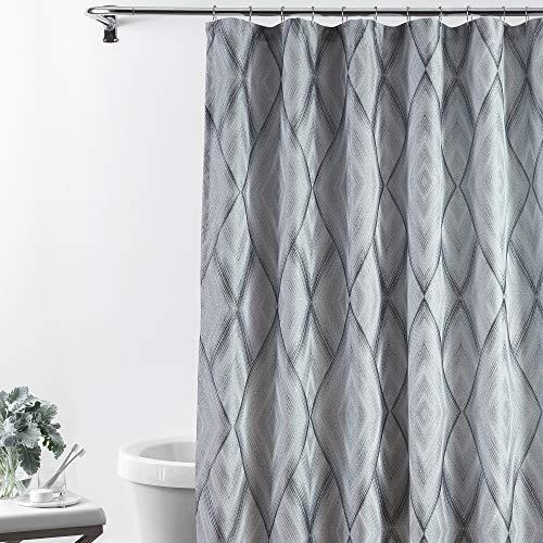 Croscill Echo Stall Shower Curtain 54x78, Slate Grey