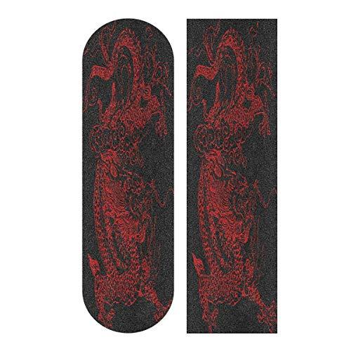 LDIYEU Chinesischer Roter Drache Skateboard Griptape rutschfest Selbstklebend Longboard Griptapes Aufkleber Griffband 33