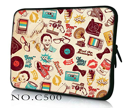 Caodong Multifunzione 7 9 7 10 10 1 11 6 12 13 3 14 14 4 15 15 6 17 17 3 Pollici Laptop Netbook Sleeve Case Notebook Cover Cover per HP ASUS Acer Cartone Animato 14-inch
