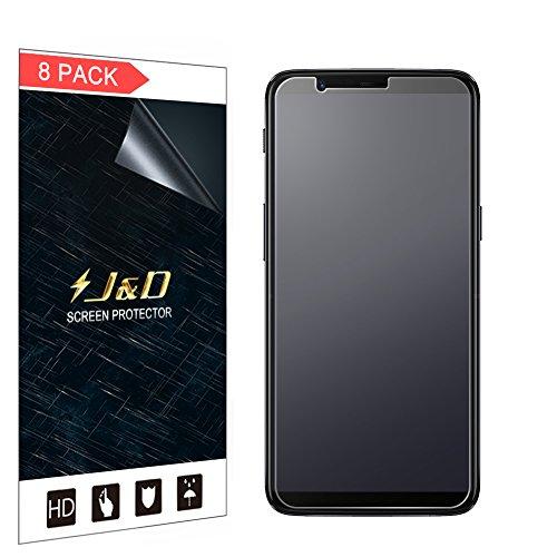 J&D Compatibile per 8 Confezioni OnePlus 5T Protezione Schermo, [Anti-riflesso] [Anti-impronte] [Non Piena Copertura] Premium Matte Pellicola Protettiva per OnePlus 5T