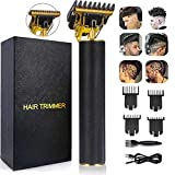 Zero Gapped Detail Beard Shaver Hair Clippers for Men, T-Blade Trimmer for Men, USB Rechargeable Cordless, Barber Salon Grooming Cutting Kit.Titanium & Ceramic Blades
