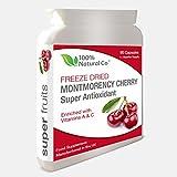 Montmorency Cherry Kapseln - 90 Kapseln - 100% Natural Co - Potent Gefriergetrockneter Extrakt -...