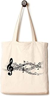 [Upgraded] Andes Heavy Duty Gusseted Canvas Tote Bag, Handmade from 12-ounce Pure Cotton, Perfect for Shopping, Laptop, School Books, Sheet Music Notes