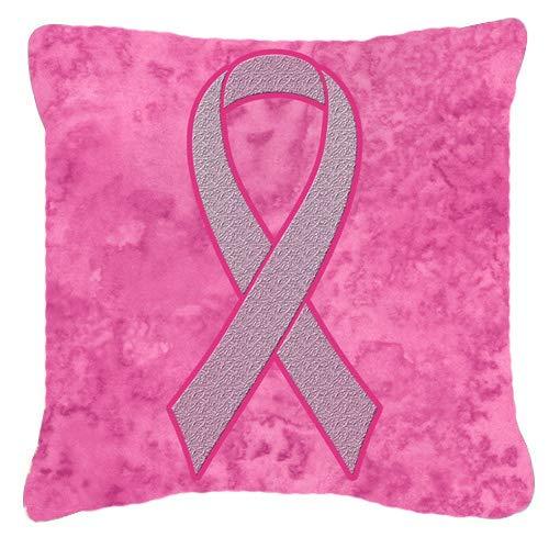 Carolines Treasures AN1205PW1818 Kissen mit rosa Schleife für Brustkrebs-Bewusstsein, 45,7 x 45,7 cm, Mehrfarbig