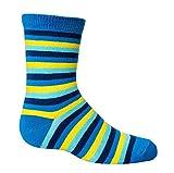 GOTS Zertifiziert-Bio Kindersöckchen * 3er-Bündel* 75prozent Bio Baumwolle Socken jungen CH-693 (27-30, Ringel)