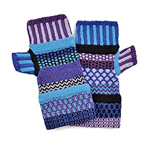 Solmate Socks, Mismatched Fingerless Mittens/Gloves for Women or Men, USA Made