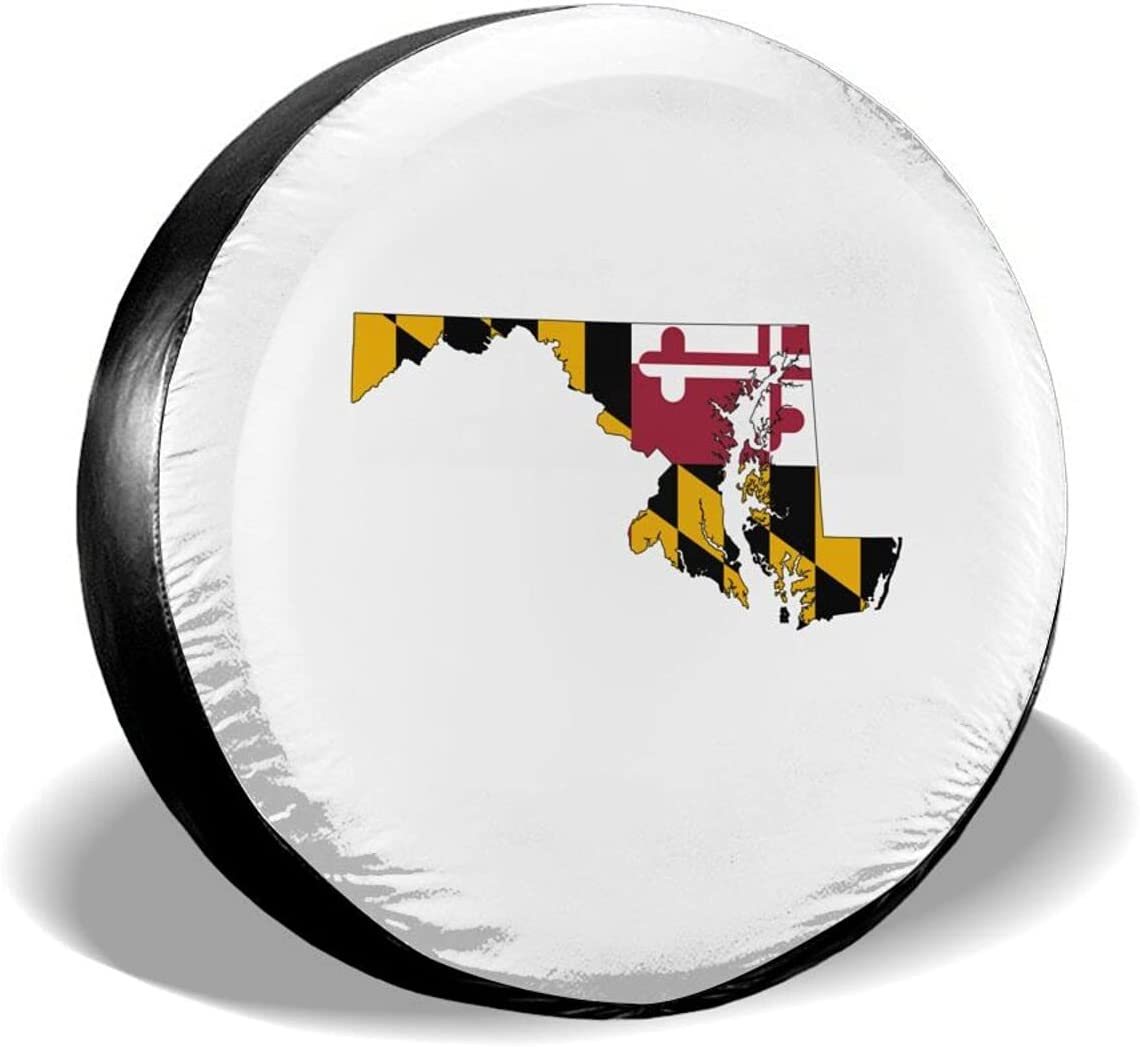 HYEECR Tire Max 86% OFF Cover Gun Maryland T Flag Universal Spare