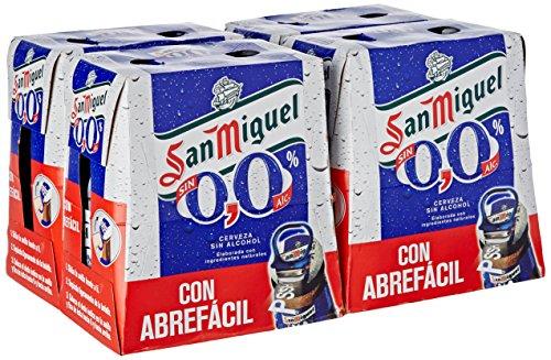 San Miguel Cerveza Sin Alcohol - Paquete de 24 x 250 ml - Total: 6000 ml