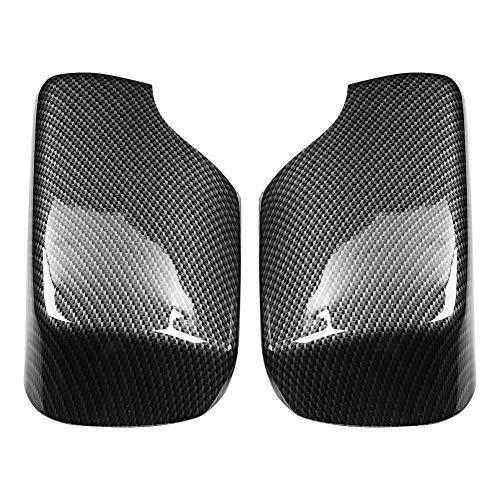 2pcs Rearview Mirror Cover Fit for BMW 3 Series E46 318I 320I 325I, Car Exterior Parts Replacement Modification, Carbon Fiber