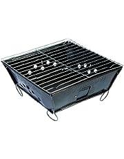 Camp-Gear - Barbecue - Envelop - Opvouwbaar - Houtskool - Zwart