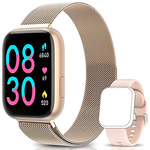 NAIXUES Smartwatch Orologio Fitness Sportivo Donna Uomo Impermeabile Smartband Cardiofrequenzimetro...