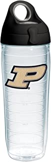 Tervis Purdue Boilermakers Logo Insulated Tumbler with Emblem and Black with Gray Lid, 24oz Water Bottle, Clear