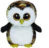 Owliver - Eule schwarz/braun, 15cm