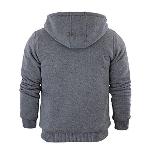 Brave Soul Boys Hoody Hoodie Kids Hoodies Sherpa Fleece Lined Zip UP Hooded Padded Sweatshirt Back to School Jacket Casual Coat Long Sleeve Warm Winter TOP Charcoal