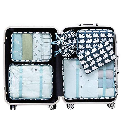 Suitcase Organizer,Mossio 6 Set Luggage Packing Cubes Toiletry Travel Kit Polar Bear