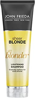 John Frieda Sheer Blonde Go Blonder Shampoo, 8.3 Ounce Gradual Lightening Shampoo, with citrus and chamomile, featuring our BlondMend Technology