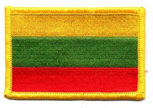Flaggen Aufnäher Patch Litauen Fahne Flagge NEU