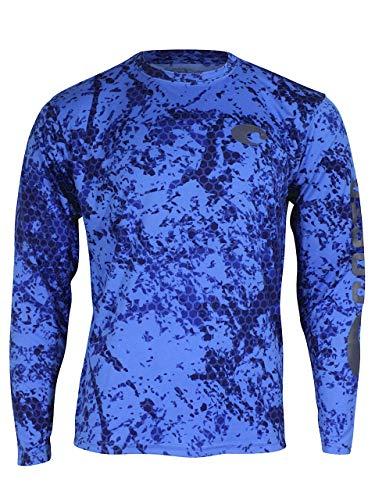 Costa Del Mar Hexo Technical Long Sleeve Shirt - Blue Camo - XL