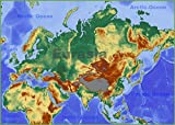 Gifts Delight Laminated 33x24 Poster: Thematic Map - Map of Eurasia MAP3