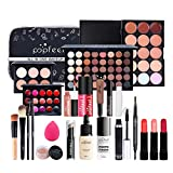 LEAMALLS 24 Piezas Estuches Juego de Maquillaje Completo Kit de Cosmético todo en uno Regalo Maquillaje Sombra de Ojos Paleta para Ojos Labios y Rostro Professional Makeup