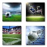 Fußball - Set A schwebend, 4-teiliges Bilder-Set je Teil