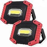 DUCCM Wiederaufladbarer Scheinwerfer, 2er-Pack 30W LED wiederaufladbare Arbeitsleuchte...