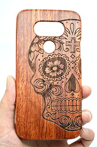 PhantomSky Huawei P10 Lite Funda de Madera, [Serie de Lujo] Natural Hecha a Mano de Bambú/Madera Carcasa Case Cover para tu Smartphone - Mandala Palisandro