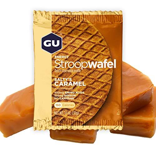 GU Energy Gofre de Caramelo Salado - Paquete de 16 x 32 gr - Total: 512 gr