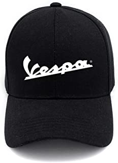 Vespa logo baseball style cap in graphite with yellow embriodery