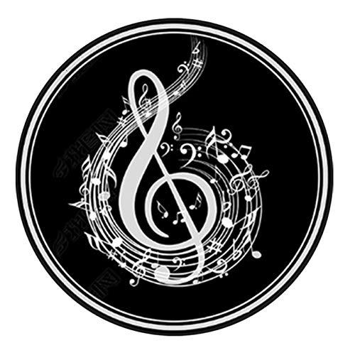 QQDD Runde Trommelmatte Drum Teppich Schlagzeug Teppich Schallschutz Teppich Schallschutzmatte Trommel Für Bass Drum Snare Rug Und Elektronische Trommel Jazztrommel Klavier Teppich (160CM)