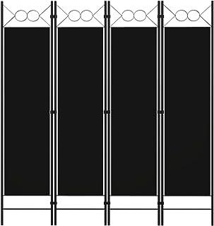 vidaXL Cloison de Séparation 4 Panneaux Séparateur de Pièce Diviseur Ecran d'Intimité Paravent Chambre à Coucher Maison In...
