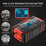 Car Battery Charger, Enhanced Edition 8A 12V/4A 24V Car Battery Charger Charges, Automotive Smart Portable Battery Charger Maintainer/Pulse Repair Charger Pack for Car, Motorcycle, Lawn Mower and More