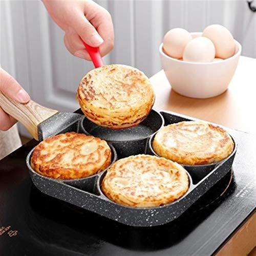 Poêle à friture de quatre trous casserelle omelette épaissie omelette antiadhésive pancake pancake casserole cuisson cuisson cuisson hang poêle fabricant machine ustensiles de cuisine (Color : Grey)
